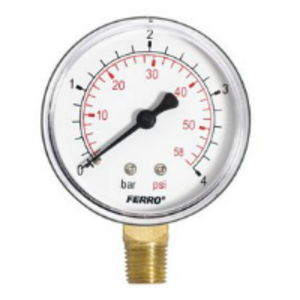 Manometer 63mm 0-4bar 1/4
